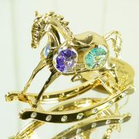 スワロフスキー 木馬 サイズ:W8.5×D2×H7cm 生産国:中国 クリスマスや誕生日のプレゼント...