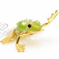 スワロフスキー カエルの置物 サイズ:W7.5×D6.5×H4.5cm 材質:スワロフスキークリスタ...