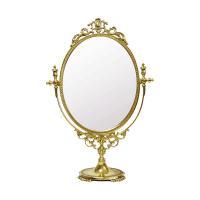 イタリア製のスタンドミラー 材質:真鍮 サイズ:W32.5×D10.5×H48.5cm 原産国:イタ...