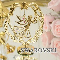 スワロフスキー クリスタル 天使 オーナメント 1632 サイズ:W8×H11×D4cm 材質:スワ...