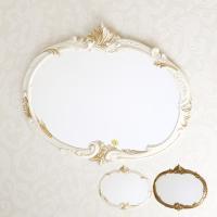 イタリア製 ミラー ホワイト、ゴールドからお選び下さい。 サイズ:W52×H41cm、重さ1.5kg...