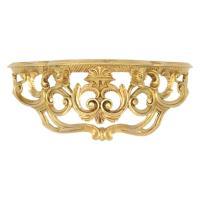 イタリア製 壁掛けコンソール 中 ホワイト、ゴールドからお選び下さい。 サイズ:W40×H17×D1...