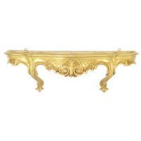 イタリア製 壁掛けコンソール 大 ホワイト、ゴールドからお選び下さい。 サイズ:W49×H16×D1...