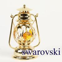 スワロフスキー 置物 ランタン サイズ:W5×D4×H8.5cm(取っ手含むH12cm) 材質:スワ...