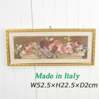 イタリア製 額絵 バラ 91533 サイズ:W52.5×D2×H22.5cm、重量:1kg 材質:天...