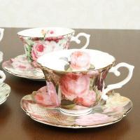 花柄のカップ&ソーサー 37436 サイズ:カップ/直径10×H7cm(持ち手含むW12.5cm) ...