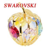 SWAROVSKI 置物 リンゴ小 サイズ:W4×D4×H4.5cm 材質:スワロフスキークリスタル...