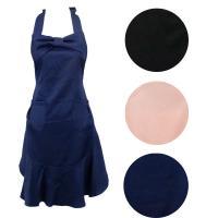 リボンとフリルのエプロン ピンク、ネイビー、ブラック サイズ:W23.5〜76×H80.2cm、肩紐...