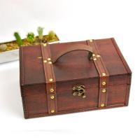 アタッシュケース型のアンティーク調のちょっと大き目のボックス♪  ちょっと大き目の収納BOXですので...