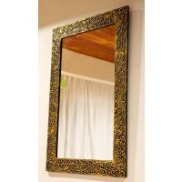 アジアン バリ 雑貨 ♪ゴールドマークミラー Mサイズ♪ おしゃれ インテリア エスニック 壁掛け鏡 ウォールミラー