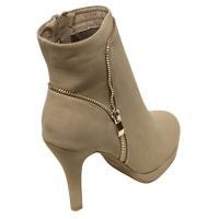 靴 レディース Top Moda George-31 Women's almond toe zip decor high top high heel booties