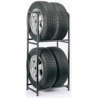 狭いスペースでも、タイヤを4本収納できます。 丈夫なスチール製で、スタッドレスタイヤや予備タイヤの保...