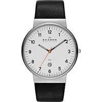 ■商品詳細 Slender watch featuring round white dial wit...