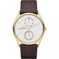 ■商品詳細 Gold-tone stainless steel watch with silver-...