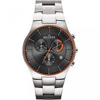 ■商品詳細 Titanium watch featuring orange inner bezel ...