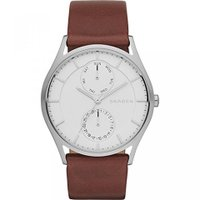 ■商品詳細 Round watch in brushed silver tone featuring...