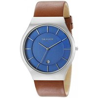 ■商品詳細 Round stainless steel watch with blue dial f...