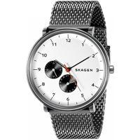 ■商品詳細 Gunmetal-tone white-dial watch featuring Ara...