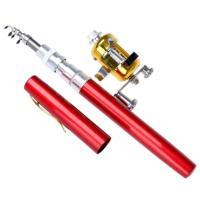 クロスワーク ペン型携帯釣竿 コンパクトロッド&リールセット レッド(送料別商品)