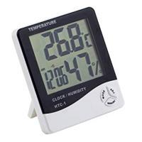5機能搭載 デジタル温度計 湿度計 掛け時計 置時計 兼用 温湿度計 目覚まし カレンダー(ゆうパケット、代引不可、送料別商品)