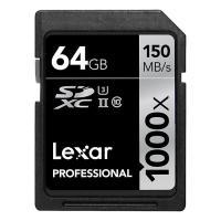 《新品アクセサリー》 LEXAR(レキサー) Professional 1000x SDXCカード UHS-II 64GB LSD64GCRBJP