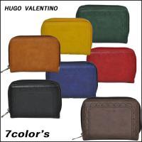 送料無料 HUGO VALENTINO レディース二つ折り財布   ・カード入れ×6  ・フリーポケ...