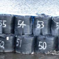 耐候性フレキシブル コンテナ バッグ 丸型 フレコンバック AS-002 BLACK 1年耐候 50袋 大型土のう袋 コンテナバッグ トン袋 トンバッグ yojo 03