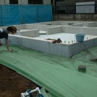 PPシート ベージュ 幅1000mm×長さ100m 2本 住宅周りの泥除け用養生シート yojo 02