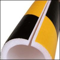 単管カバー トラ模様 60本 養生材 単管足場の養生 単管足場の養生 注意喚起 単管クッション|yojo|02
