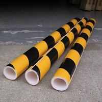 単管カバー トラ模様 60本 養生材 単管足場の養生 単管足場の養生 注意喚起 単管クッション|yojo|03