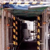 単管カバー トラ模様 60本 養生材 単管足場の養生 単管足場の養生 注意喚起 単管クッション|yojo|04