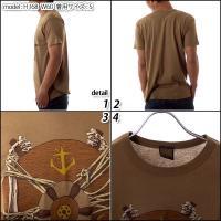 ダークシーズ メンズ Tシャツ 半袖 プリントTシャツ LEFT BEHIND カーキブラウン