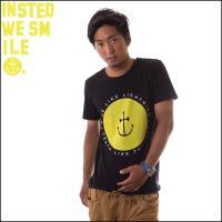 INSTED WE SMILE インステッドウィスマイル メンズ Tシャツ スマイルアンカー ロゴ RLLCLT Smiley Anchor 黒 黄色
