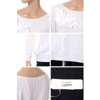 インポートブランド(import brand) コサージュ付きセーター ニット ホワイト