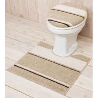 トイレ空間を洗練した空間にしてくれるトイレマットセットです! 超お買い得な、トイレカバー普通(O・U...