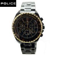 POLICE ポリス ブラック クロノグラフ 【主な仕様】 ●ステンレスケース(ブラックIP)  ●...