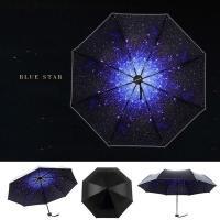 傘 日傘 晴雨兼用 折りたたみ 遮光 uvカット 折りたたみ傘 星空 軽量 日傘 レディース ひんやり傘  傘 かさ カサ cm153