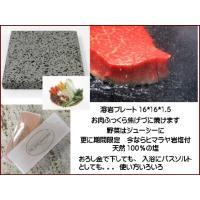 気泡のあるタイプの溶岩プレート16x16x1.5cm・・1枚と ヒマラヤ岩塩プレート S 10x4x...
