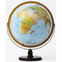 プレス・クラフト製法により、山脈や海底の起伏までリアルに表現した立体表面が魅力の本格地球儀です。 球...