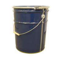 青色無地のペール缶です。 天板が取り外せるので内容物の出し入れも簡単。 本体がテーパーになっているの...