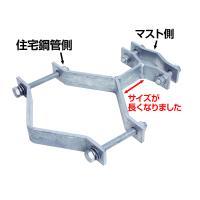 住宅用鋼管柱用 アンテナマスト支持金具 スッキリポール対応型(アンテナポール取付金具)(e1684)