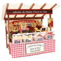 ビリーの手作りドールハウスキット パリのマルシェキット「 パリのパン屋さん 」 【組み立て12分の1...
