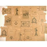 手芸道具だって可愛く収納したい!そんな乙女心をくすぐっちゃうアンティークなデザインの糸巻き台紙です。...
