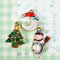 クリスマスシリーズがついに新登場!!月のデザインのサンタ・雪だるま・クリスマスツリーのイラストチャー...