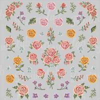 レジン液に封入して楽しい埋め込みシールに新商品が登場!ゴブラン織りのエレガントなバラが美しい世界観を...