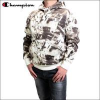 チャンピオン パーカー Champion (チャンピオン) メンズ フーディー スウェット パーカー プルオーバー フーディー (CHALK WHITE) S4962P-CHALK WHITE