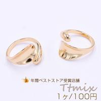 リング 指輪 デザインリング 16×21mm ゴールド【1ヶ】
