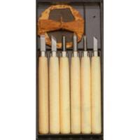 彫刻刀セット 小学生にぴったり マルイチ彫刻刀 プラケース入 6本組セット