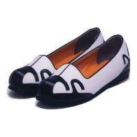 パジチョゴリ男性靴カプシンB 白×黒