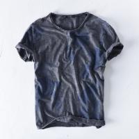 Tシャツ メンズ 半袖 夏 エスニック コットン カットソー カジュアル    水彩画をイメージさせ...